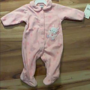 Carter's pajamas pink bunny 6 months #0054